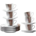 Kaffeeservice 18-tlg. hellbraun