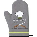 """Ofenhandschuh """"Chef"""" grau"""