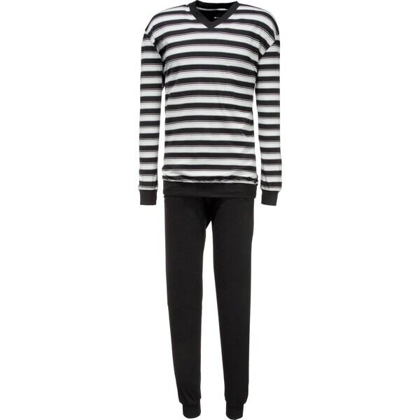 Cito Herren-Schlafanzug schwarz/grau