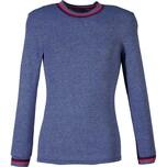 Herren-Unterhemd langarm 2er-Pack jeansblau