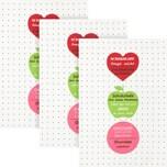 Kracht Geschirrtuch 3er-Pack pink
