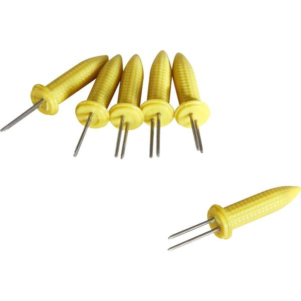 Fackelmann Maiskolbenhalter 6-teilig gelb