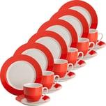 Gepolana Kaffeeservice rot 18-teilig