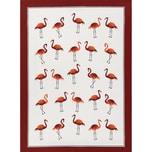 Kracht Geschirrtuch Flamingos 3er-Pack rot-weiß