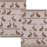 Kracht Geschirrtuch 2er-Pack Hasen