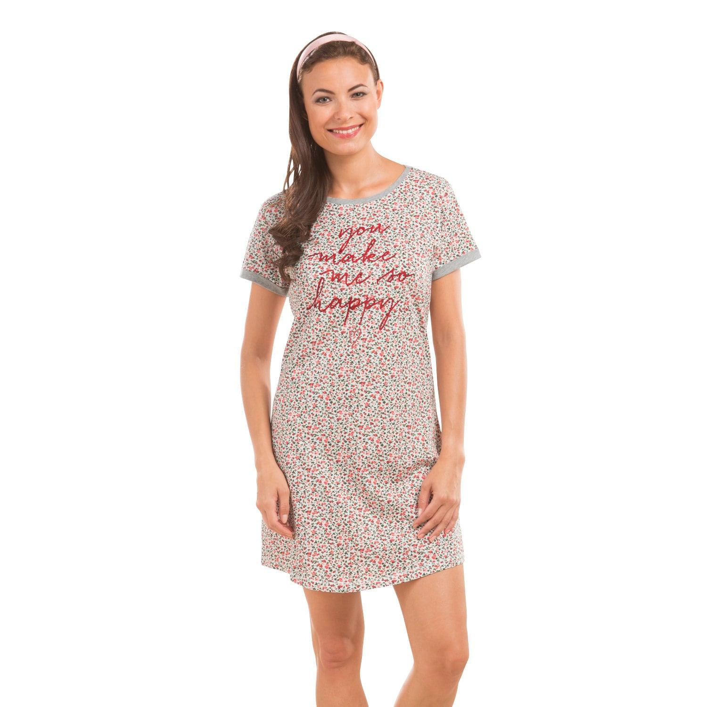 Esprit Damen-Nachthemd weinrot