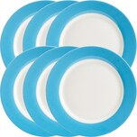 Gepolana Dessertteller 6er-Pack blau