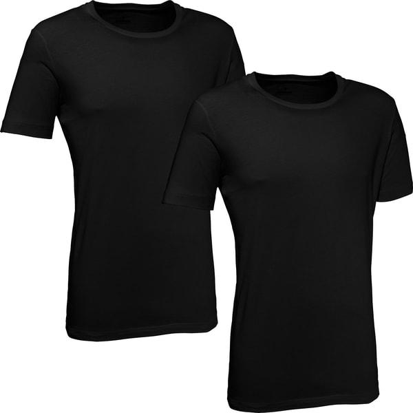 Ragman Herren-Unterhemd 2er-Pack schwarz