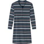 Schiesser Damen-Nachthemd dunkelblau/rose