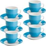Gepolana Kaffeetassenset 12-tlg. blau
