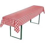 Redbest Biertisch Tischdecke rot