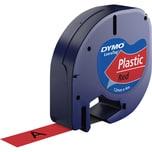 Dymo Schriftbandkassette LetraTag S0721630 12mmx4m schwarz auf rot
