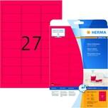 Herma Neon-Etikett Nr. 5045 neonrot PA 540 Stück 635x296mm