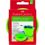 FABER-Castell Pinselwaschbox CLIC&GO Nr. 181570 10x10x10cm grün