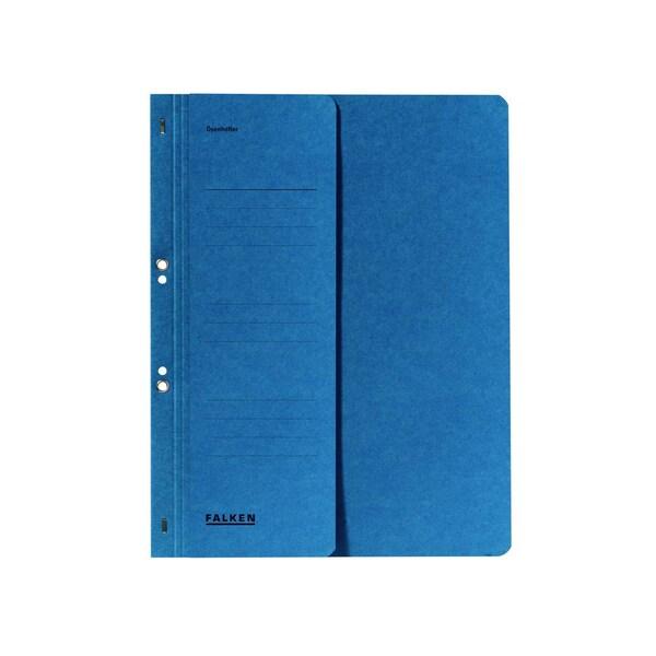 Falken Ösenhefter A4 blau kfm. Heftung Nr. 80003809 250g/m² halber Deckel