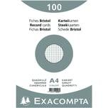ExacomPTA Karteikarte A4 kariert weiß Nr. 10206E PA 100 Stück