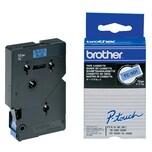 Original Brother Schriftband TC 501 12mm x 77m schwarz auf blau laminiert