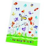 RNK Hausaufgabenheft Schmetterlinge 46450 DIN A5 80g 48Blatt