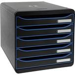 ExacomPTA Schubladenbox BIG-BOX Plus Nr. 309979D. 5 Schübe schwarz