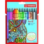 STABILO Filzstifte Pen 68 18 Farben
