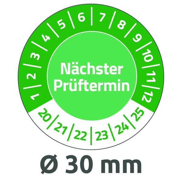 Avery Zweckform Prüfplakette 2020 Nr. 6988-20 Ø 30mmVinyl grünPA 80Stk