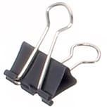 Maul Foldbackklemmer Mauly 4x13mm Nr. 2141390 schwarz PA= 12Stk