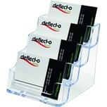 Deflecto Visitenkartenhalter glasklar Nr. 70841 für 200 Karten 4 Fächer