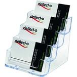 Deflecto Visitenkartehalter glasklar Nr. 70841. für 200 Karten. 4 Fächer