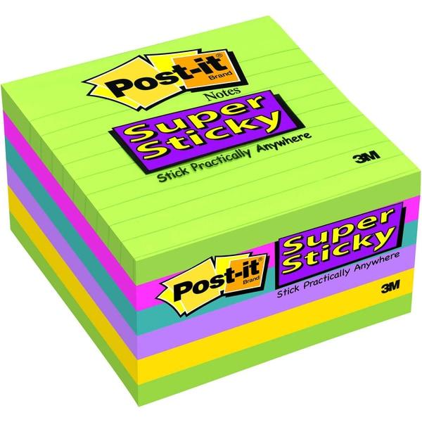 Post-it Haftnotiz Super Sticky 100x100mm Nr. 6756SSU sortiert PA 6x 90Blatt