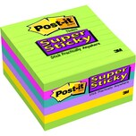 Post-it Haftnotiz Super Sticky 100x100mm Nr. 6756SSU sortiert PA 6x 90Blatt