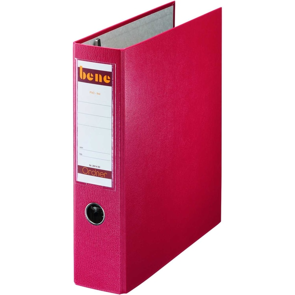 Bene Doppelordner POKF A4 75mm rot Nr. 292900RT 2x A5 quer