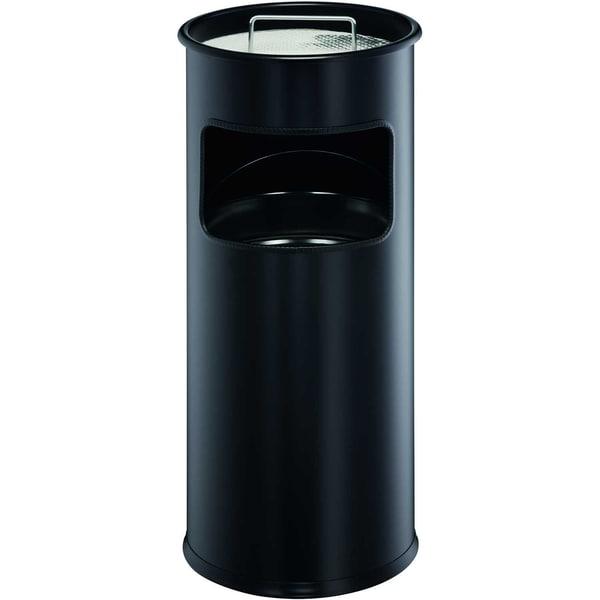 Durable Papierkorb METALL 17L schwarz Nr. 333001 mit Ascher Ø 26cm