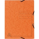 ExacomPTA Sammelmappe A4 orange Nr. 55404E. Colorspankarton. 3 Klappen. Jurismappe