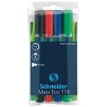 Schneider Boardmarker Maxx Eco 110 Nr. 111094. farbig sortiert. 1-3mm Rundsp.PA= 4Stk