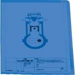Durable Sichthülle A4 PP blau Nr. 2337-06. PA= 100Stk . 0.12mm