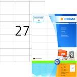 Herma Superprint-Etiketten Nr. 4450 ws PA 2.700 Stk 70x32mm permanent