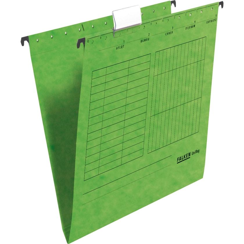 Falken Hängemappe seitlich fen grün Nr. 11287778. PA= 5Stk.. 230g/m²