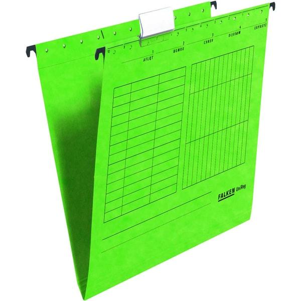Falken Hängemappe seitlich offen grün Nr. 11287778 PA 5 Stück 230g/m²
