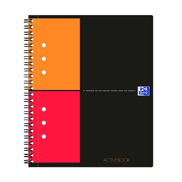 Oxford Activebook A5+ kariert 357001411 80 Blatt 12-fach Lochung