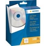 Herma CD Papierhülle für 1 CD weiß Nr. 1140 PA 100 Stk mit Sichtfenster