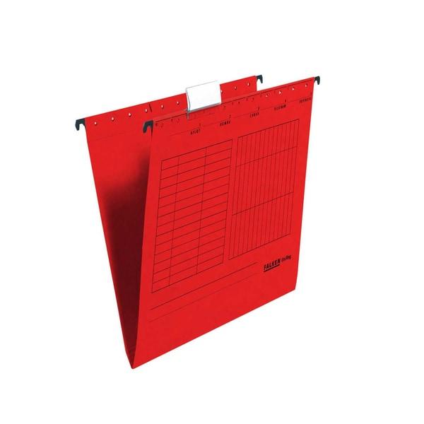 Falken Hängemappe seitlich offen rot Nr. 11287752 PA 5 Stück 230g/m²
