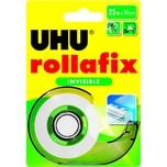 Uhu Klebefilm rollafix 36970 19mmx25m Nr. 36970 invisible mit Abroller