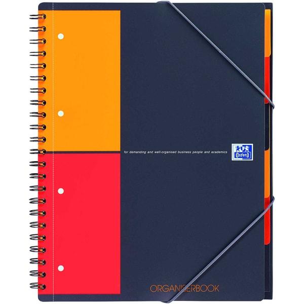 Oxford Organiserbook A4+ kariert 5mm 357001801 80 Blatt 80g International