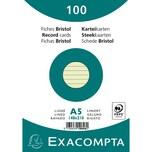 ExacomPTA Karteikarte A5 liniert grün Nr. 10848SE. PA= 100Stk