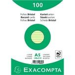ExacomPTA Karteikarte A5 liniert grün Nr. 10848SE PA 100 Stück