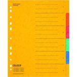 Falken Register A4 6-teilig blanko Nr. 11359205 Colorspankarton Überbreite