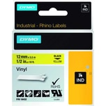 Dymo Rhino Vinylband S0718450 12mmx55m schwarz auf gelb 18432