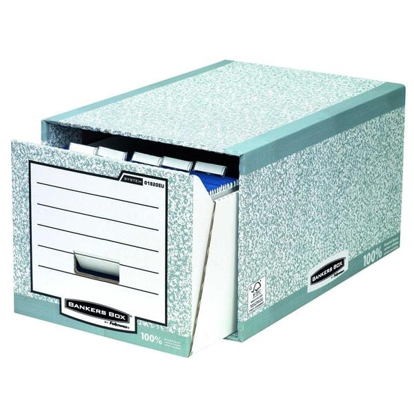 Fellowes Archivbox R-Kive System Nr. 01820EU Wellpappe grau/weiß