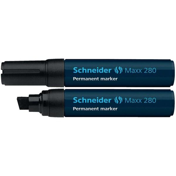 Schneider Permanentmarker Maxx 280 Nr. 128001 schwarz 4-12mm Keilspitze