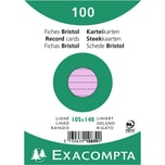 ExacomPTA Karteikarte A6 liniert rosa Nr. 10839SE PA 100 Stück